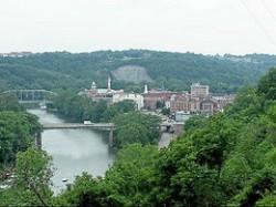 """Frankfort e il fiume Kentucky"""