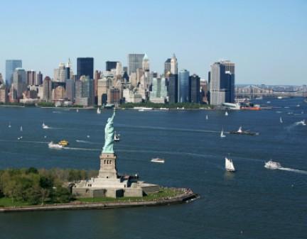 New York con la Statua della Libertà
