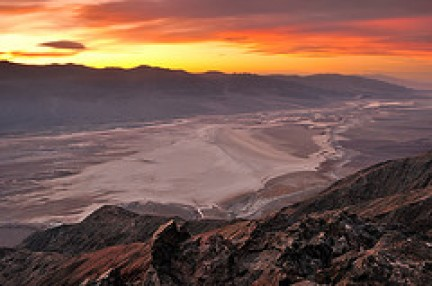 Tramonto sul Death Valley National Park