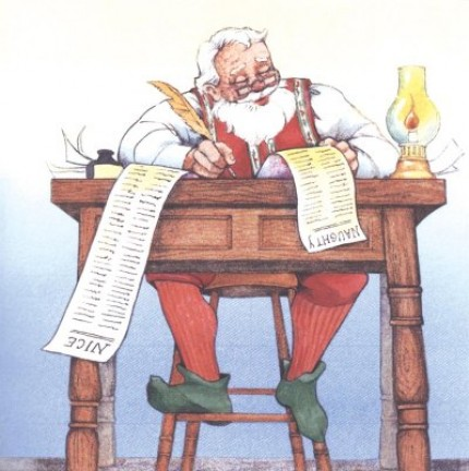 Santa Claus controlla le letterine
