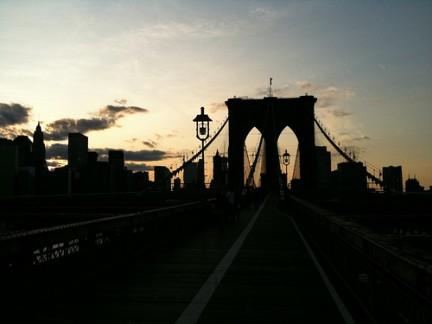 Luci del tramonto sul Brooklin bridge
