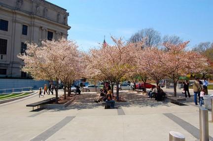Area all'esterno del Brooklyn Museum