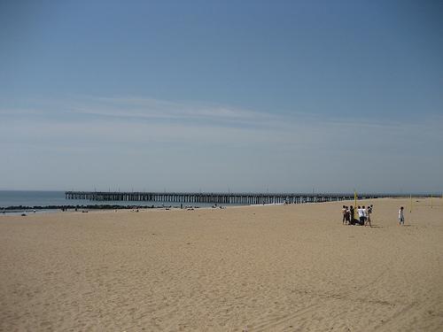 La vasta spiaggia di Coney Island