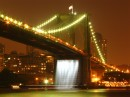 Luci sul Brooklyn Bridge