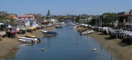 Uno dei canali di Newport Beach