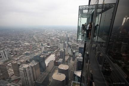 Panorama di Chicago dall'alto dello SkyDeck