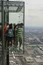 Una visuale su Chicago dallo SkyDeck della Willis Tower