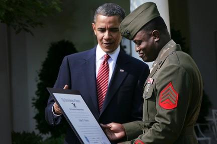 Il Presidente Barack Obama attuale comandante supremo delle forze armate
