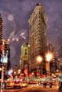 Il Flatiron Building nelle luci della sera