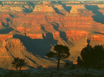 Tramonto in un Grand Canyon