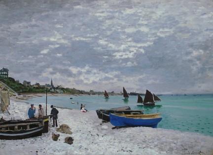 Claude Monet - The Beach at Sainte Adresse