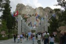 Visitatori al Mount Rushmore National Memorial