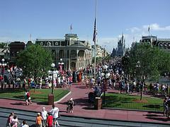 Main Street guardando il Castello di Cenerentola