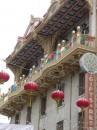 Chinatown con le sue caratteristiche lanterne