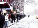 Inverno a New York, si aspetta l'arrivo del Bus