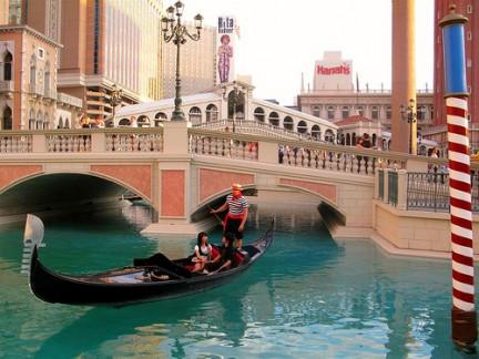 Venezia riprodotta in un Hotel di Las Vegas