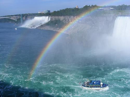 Arcobaleno sulle cascate del Niagara