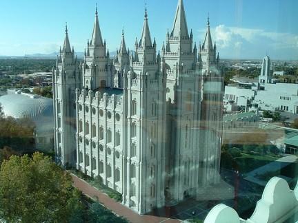 Salt Lake City - Panorama del Tempio Mormone