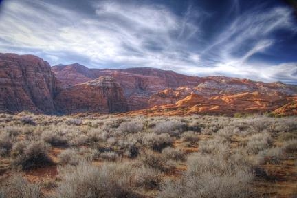 Un canyon nel pomeriggio invernale