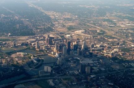 Columbus vista dall'alto