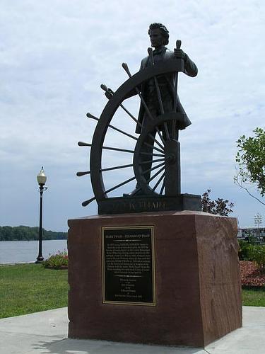 Statua di Mark Twain ad Hannibal