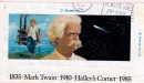 Una busta che ricorda la morte di Mark Twain collegata alla cometa Halley