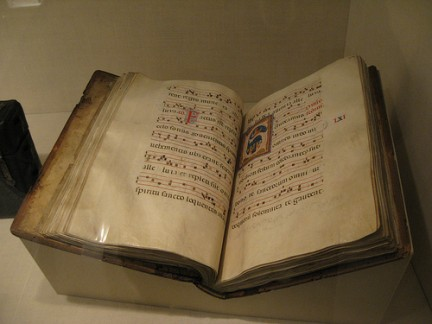 Antico libro di musica