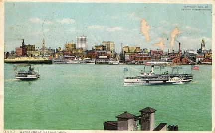 Detroit - cartolina del 1930