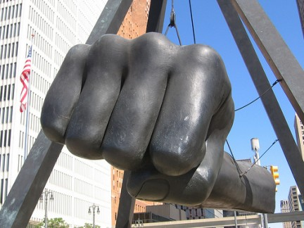 Joe Louis Fist Sculpture - Detroit