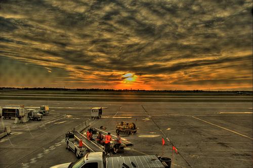 Aeroporto di Detroit - Tramonto