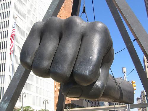 Joe Louis Fist Sculpture - Detroit