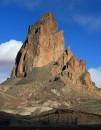 Una pianura dove sopravvive una riserva degli indiani Navajo
