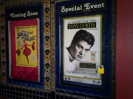 Tony Curtis in un poster al Castro Theatre
