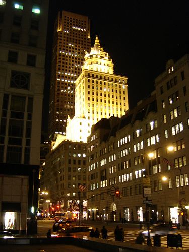 New York - 5th Avenue di notte