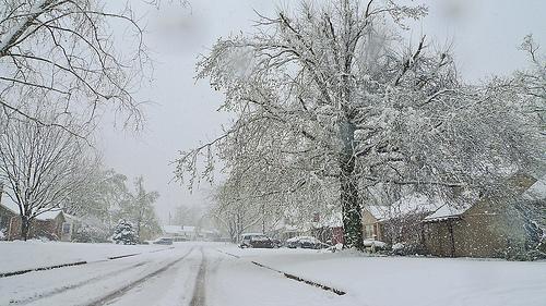Tulsa sotto la neve