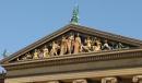 La parte piu' alta della facciata del Museo