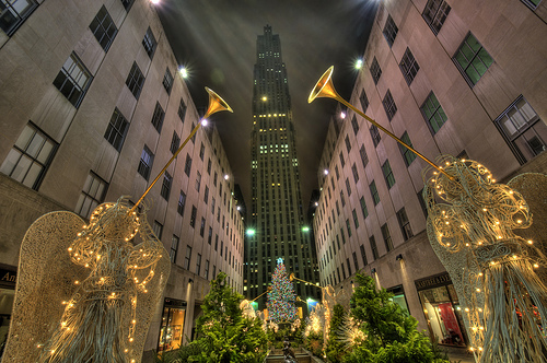 Angeli di Natale al Rockefeller Center