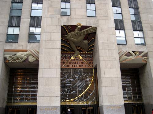 Una delle entrate dei grattacieli al Rockefeller Center