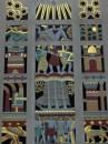 Art deco sulla facciata di un palazzo al Rockefeller Center