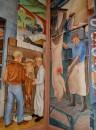 Parte di un mural all'interno della Coit Tower