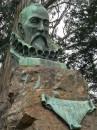 Busto delle scrittore spagnolo Miguel de Cervantes