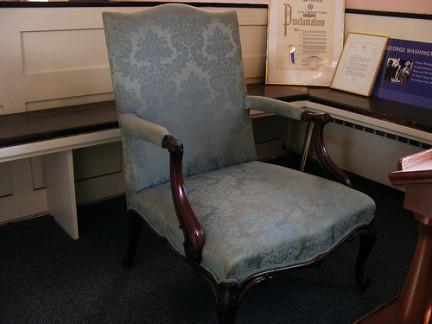 Il banco dove pregava George Washington