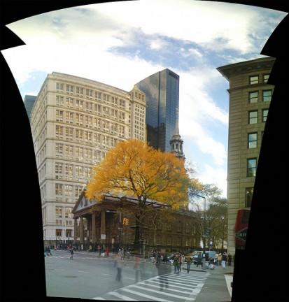 St. Paul's Chapel tra i grattacieli