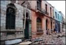 Il centro di Santiago Cile distrutto