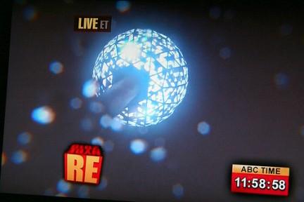Capodanno - La sfera di cristallo inizia a scendere