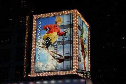Insegna in Times Square