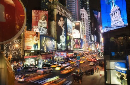 Luci e colori di Times Square
