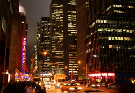 Notte di luci in Times Square