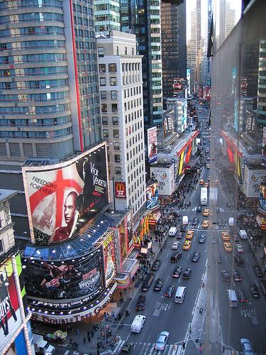 Times Square vista dall'alto