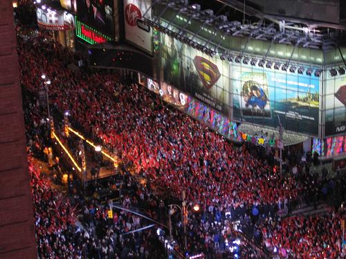 Times Square attende il Nuovo Anno